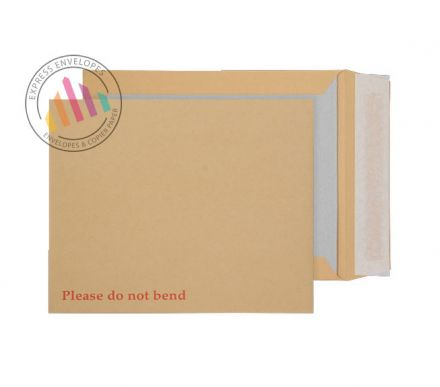 318 x 267 - Manilla Board Back Envelopes - 120gsm - Non Window - Peel and Seal