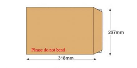 318x267mm - Manilla Board Back Envelopes - 120gsm - Non Window - Peel and Seal - image 2