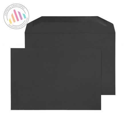 C5+ - Jet Black Mailing Envelopes - 120gsm - Non Window - Gummed