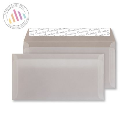 DL - White Translucent Envelopes - 90gsm - Non Window - Peal and Seal