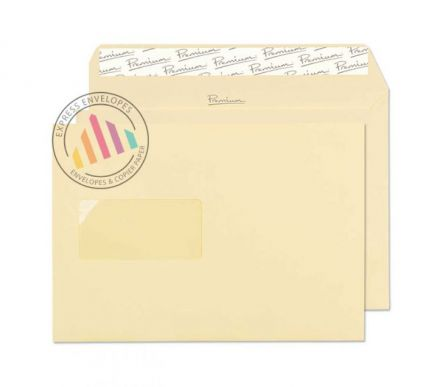 C5 - Vellum Laid Envelopes - 120gsm - Window - Peel and Seal