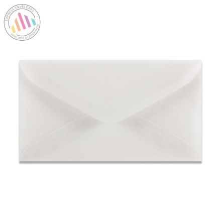 62×98mm - Translucent White Invitation Envelopes - 90gsm - Non Window - Gummed