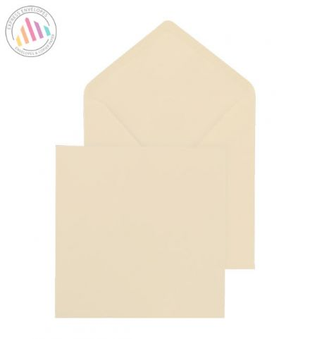 155×155mm - Cream Square Invitation Envelopes - 100gsm - Non Window - Gummed
