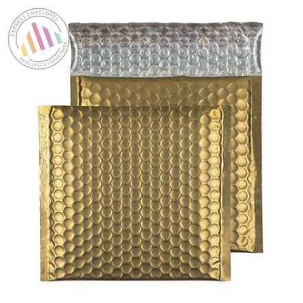 165×165mm - Gold Dust Padded Bubble Envelopes - Non Window - Peel and Seal