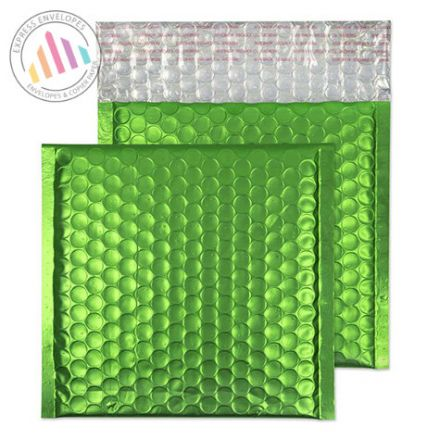 165x165mm - Avocado Green Padded Bubble Envelopes - Non Window - Peel and Seal