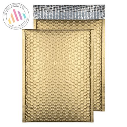C4 - Metallic Gold Padded Bubble Envelopes - Peel and Seal