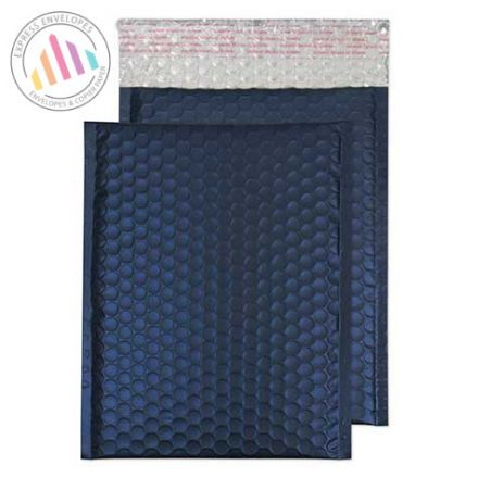250×180mm - Oxford Blue Padded Bubble Envelopes - Peel and Seal