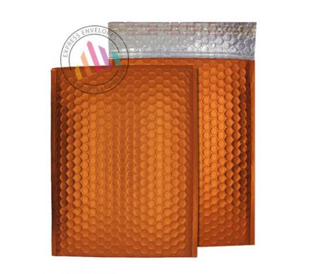 C3 - Flame Orange Padded Bubble Envelopes - Peel and Seal
