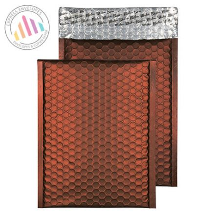 250x180MM - Milk Chocolate Padded Bubble Envelopes - Peel and Seal
