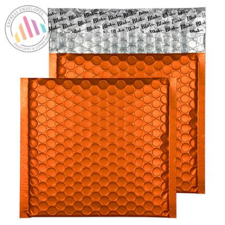 165x165mm - Pumpkin Orange Bubble Padded Envelopes - Peel and Seal