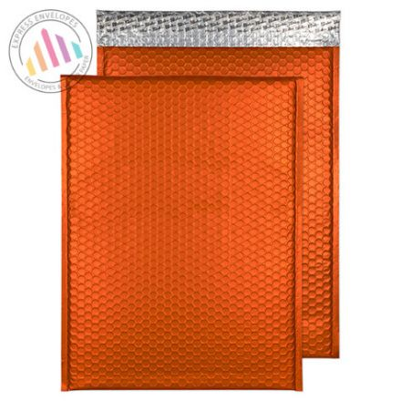 C3 - Pumpkin Orange Padded Bubble Envelopes - Peel and Seal
