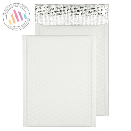 250x180mm - Ice White Padded Bubble Envelopes - Peel and Seal
