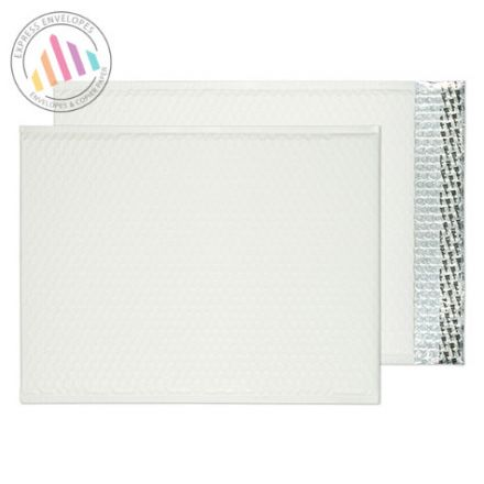 C3 - Ice White Padded Bubble Envelopes - Peel and Seal