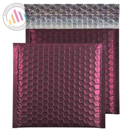 165X165mm - Bordeaux Padded Bubble Envelopes - Peel and Seal