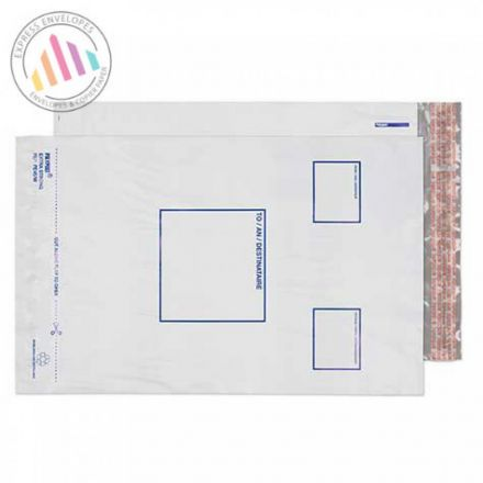 315X404MM - White Polythene Envelopes - Peel and Seal