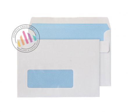C6 -  White Commercial Envelopes - 90gsm -  Window - Self Seal