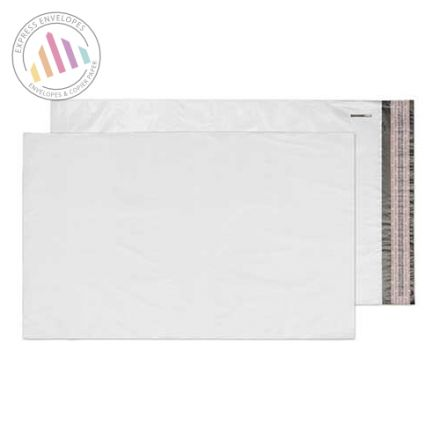 332×520mm - White Polythene Envelopes - Peel and Seal