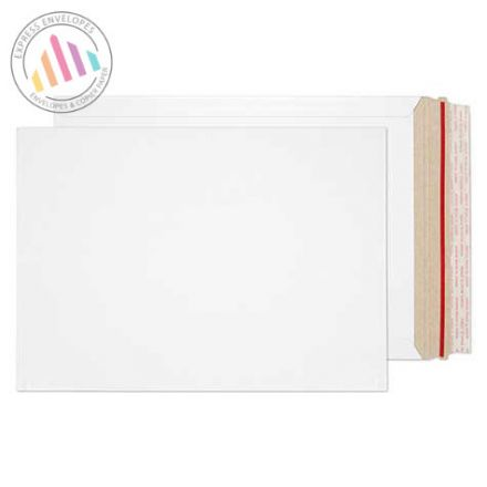 352×249mm - White All Board Envelopes - 350gsm - Peel and Seal