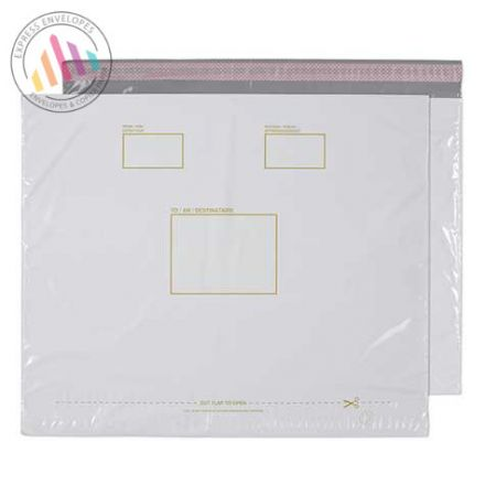 430×590mm - White Polythene Envelopes - Peel and Seal