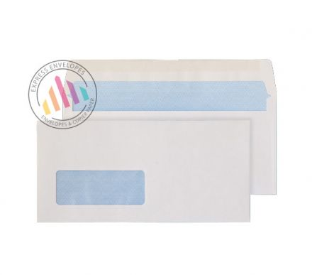 Undersize DL - White Commercial Envelopes - 80gsm - Window - Gummed