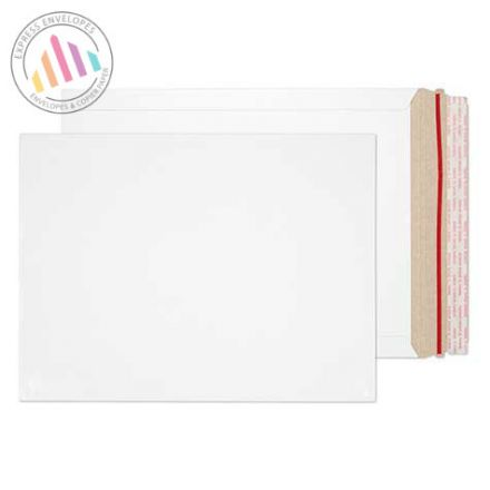 330×248mm - White All Board Envelopes - 350GSM - Peel and Seal