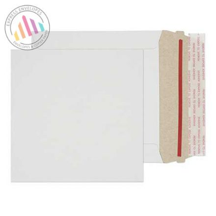 140×140mm - White All Board Envelopes - 350gsm - Peel and Seal