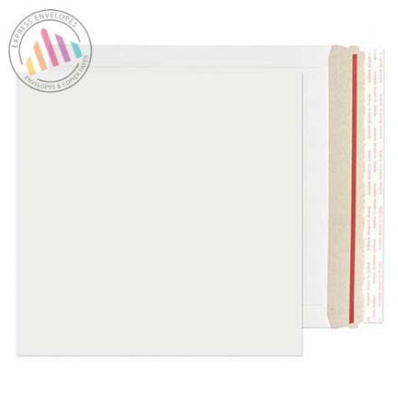 249×249mm - White All Board Envelopes - 350gsm - Rip Strip/Peel and Seal