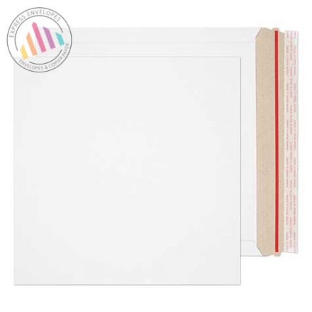 300×300mm - White All board Envelopes - 350gsm - Rip Strip/Peel and Seal
