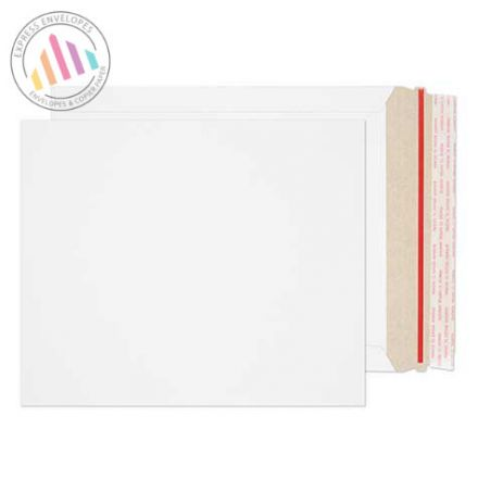 273×222mm - White All Board Envelopes - 350gsm - Peel and Seal