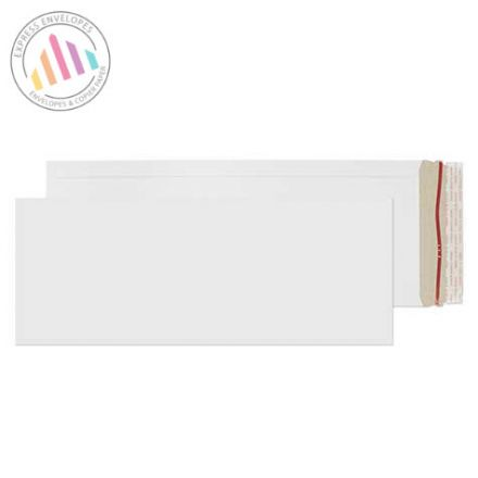 440×170mm - White All Board Envelopes - 350gsm - Rip Strip/Peel and Seal