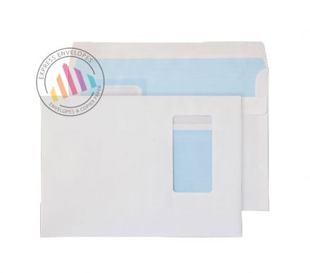 C5 - White Commercial Envelopes - 100gsm -  Portrait Window - Self Seal