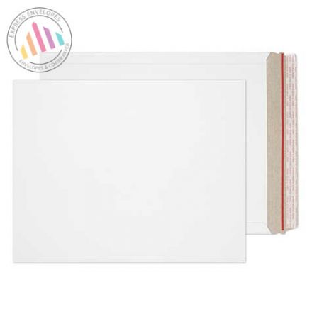 406×318mm - White All Board Envelopes - 350gsm - Peel and Seal