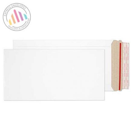 305×152mm - White All Board Envelopes - 350gsm - Peel and Seal