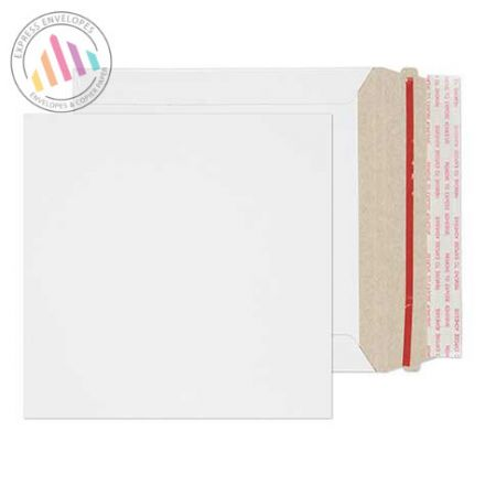 164mmX164mm - White All Board Envelopes - 350gsm - Rip Strip/ Peel & Seal