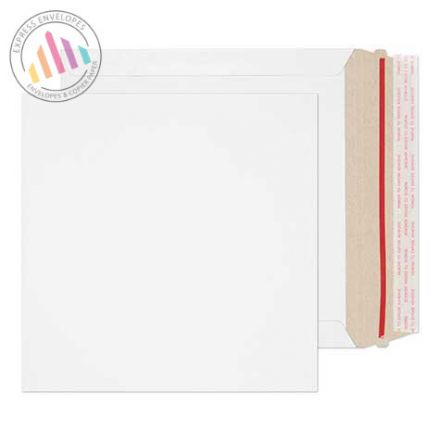 220mm×220mm - White All Board Envelopes - 350gsm - Rip Strip/ Peel & Seal