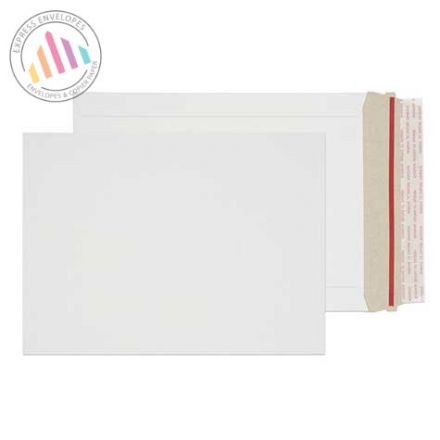 C5 - White All Board Envelopes - 350gsm - Rip Strip/Peel and Seal