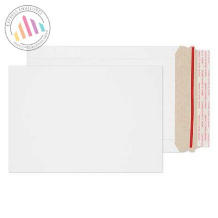 239×164mm - White All Board Envelopes - 350gsm - Peel and Seal