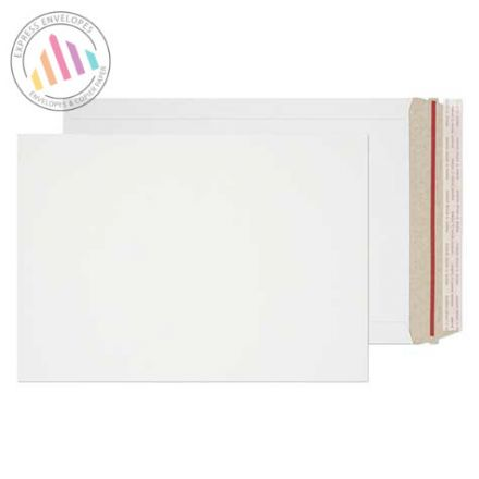 241×178mm - White All Board Envelopes - 350gsm - Rip Strip/Peel and Seal