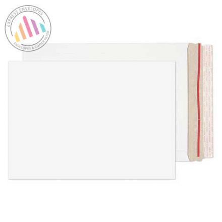 C4 - White All Board Envelopes - 350gsm - Rip Strips/Peel and Seal