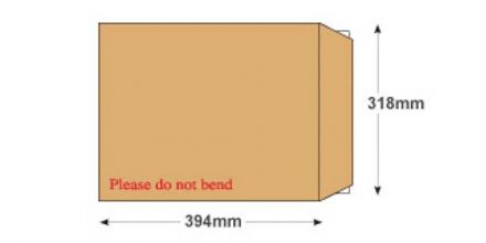 394x318mm - Manilla Board Back Envelopes - 120gsm - Non Window - Peel and Seal - image 2