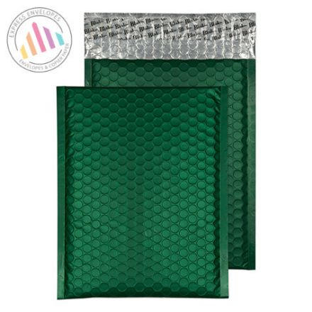 250x180mm - British Racing Green Padded Bubble Envelopes - Peel and Seal
