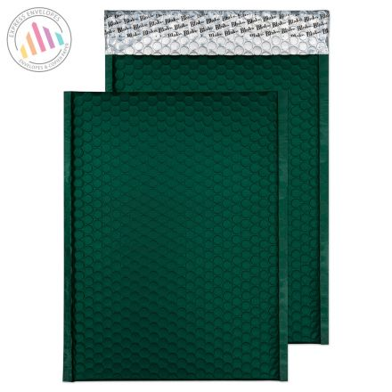 C4 - British Racing Green Padded Bubble Envelopes - Peel and Seal
