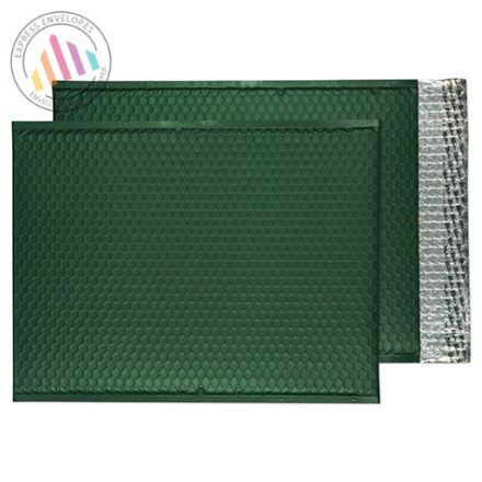 C3 - British Racing Green padded Bubble Envelopes - Peel and Seal