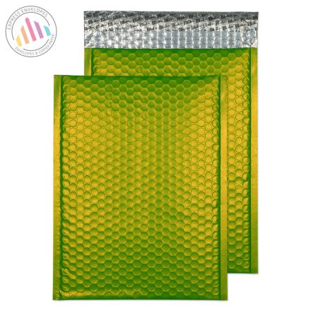 C4 - Lime Green Padded Bubble Envelopes - Peel and Seal