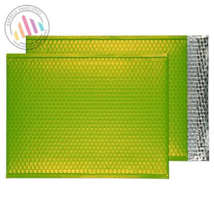 C3 - Lime Green Padded Bubble Envelopes - Peel and Seal