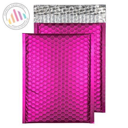 250x180mm - Shocking Pink Padded Bubble Envelopes - Peel and Seal