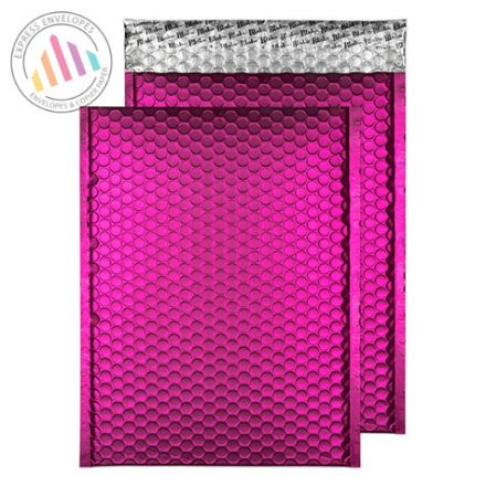 C4 - Shocking Pink Padded Bubble Envelopes - Peel and Seal