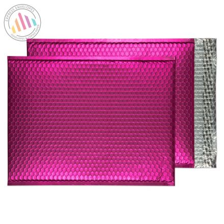 C3 - Shocking Pink Padded Bubble Envelopes - Peel and Seal