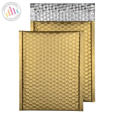 250X180mm - Metallic Gold Padded Bubble Envelopes - Peel and Seal