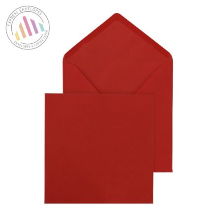 155×155mm - Red Banker Invitation Envelopes - 100gsm - Gummed